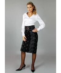 Semper Krátká úzká sukně s výšivkou