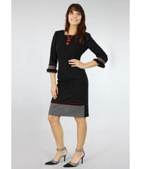 Mwd Elegantní šaty s kožíškem
