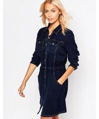 Brave Soul - Robe chemise en jean à manches longues - Bleu