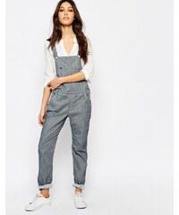 Lee - Salopette oversize en jean avec plastron - Bleu
