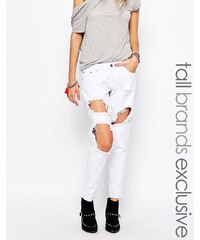 Liquor & Poker Tall - Jean skinny avec déchirures aux genoux et aspect très usé - Blanc