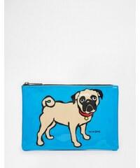 Marc Tetro - Große Tasche mit Mopsdruck - Blau
