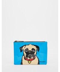 Marc Tetro - Kleine Tasche mit Mopsdruck - Blau