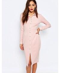 Missguided - Robe chemise coupe fourreau - Beige