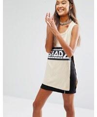 Shade London - Débardeur zippé avec logo - Beige