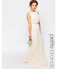 TFNC Petite WEDDING - Robe longue avec nœud en satin dans le dos - Rose