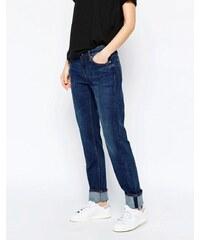 Weekday - Issue - Gerade geschnittene Jeans mit mittelhohem Bund - Schwarz
