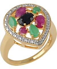 vivance jewels Ring mit Rubinen, Saphiren und Smaragden
