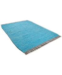 Teppich Cotton Colors handgearbeitet Tom Tailor blau 1 (B/L: 60x120 cm),2 (B/L: 80x150 cm),3 (B/L: 140x200 cm),4 (B/L: 160x230 cm)