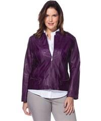 Damen Style Lederimitat-Jacke SHEEGO STYLE lila 40,42,44,46,48,50,52,54,56,58