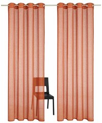 MY HOME Gardine Regina (2 Stück) orange 1 (H/B: 145/140 cm),2 (H/B: 175/140 cm),3 (H/B: 225/140 cm),4 (H/B: 245/140 cm),5 (H/B: 265/140 cm),6 (H/B: 295/140 cm)