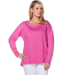 SHEEGO CASUAL Damen Casual Langarmshirt mit modischem Nietenbesatz rosa 40/42,44/46,48/50,52/54,56/58