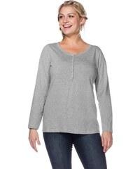SHEEGO CASUAL Damen Casual Langarmshirt in figurumspielendem Schnitt grau 40/42,44/46,48/50,52/54,56/58
