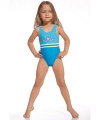 Cornette Dívčí plavky Fish tyrkysová 110