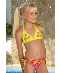 LORIN Dívčí plavečky Flower M46 barevná 158