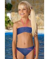 LORIN Dívčí plavky Dania M65 modrá 140