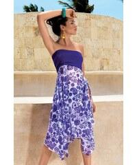 David Mare Dámské luxusní plážové šaty Stella modrá M