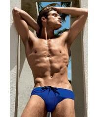 David 52 Pánské luxusní plavky Marino modrá L