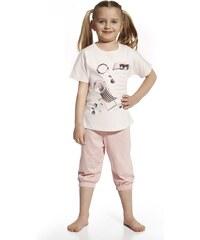 Cornette Dívčí pyžamo I love summer růžová 98