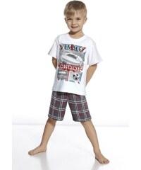 Cornette Chlapecké pyžamo Stadium bílošedá 86