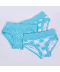 Cornette 3 pack kalhotek Blue 2312 bavlněné tyrkysová L