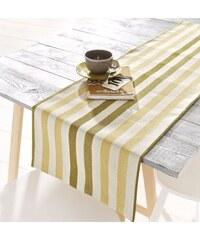Hossner Tischdecke mit Streifen Baur gelb Mitteldecke, 85x85 cm