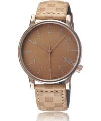 Lesara Minimalistische Armbanduhr mit analoger Anzeige - Beige