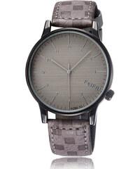 Lesara Minimalistische Armbanduhr mit analoger Anzeige - Grau