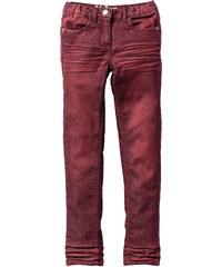 John Baner JEANSWEAR Pantalon skinny effet used, T. 116-170 rouge enfant - bonprix