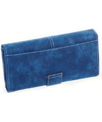 Lesara Geldbörse in Veloursleder-Optik - Blau