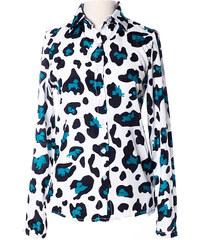 Lesara Damen-Bluse mit Leo-Muster - Grün - S