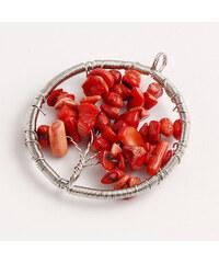 Lesara Halsketten-Anhänger mit Koralle - Rot