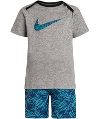 Nike Performance SET TShirt print dark grey heather/light photo blue