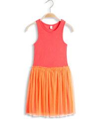 Esprit Splývavé žerzejové šaty, palmový potisk
