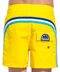 SUNDEK fixed waistband mid-length swim shorts