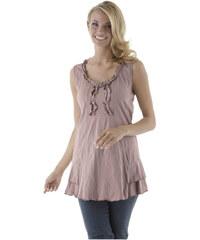 ANISTON Dlouhé tričko dlouhý dop fialová