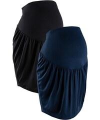 bpc bonprix collection Těhotenská sukně z žerzeje (2 ks v balení) bonprix