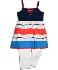 Minoti Dívčí set - kalhoty a top CORAL 5 - bílo-modrý