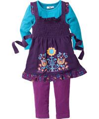 bpc bonprix collection Robe + T-shirt + legging (Ens. 3 pces.) violet manches longues enfant - bonprix