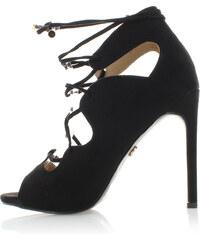 United Fashion Černé sandály Saloma