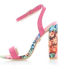 United Fashion Fuchsiové květované sandály Iskera