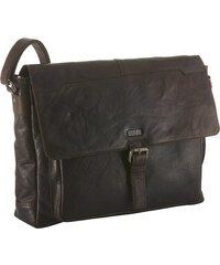 Spikes & Sparrow Messenger Bag aus Leder