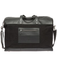 Enter Reisetasche, »Duffel Canvas & Leather, Black«