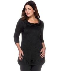 SHEEGO STYLE Damen Style Crinkle-Shirt schwarz 40/42,44/46,48/50,52/54,56/58