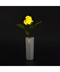 Lunio Living LED-Blume mit Vase Rose - Weiß