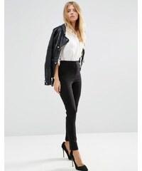 ASOS - Pantalon taille très haute - Noir