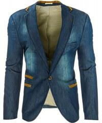 Pánské sako Milotic džínové - modrá