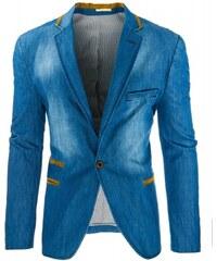 Pánské sako Milotic světle modré - modrá