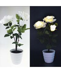 Lunio Living LED-Blumenstrauß Rose - Weiß