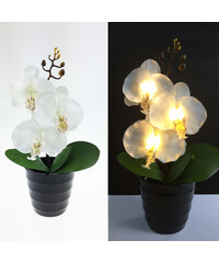 Lunio Living LED-Blume Orchidee - Weiß